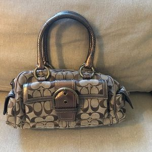 Classic Brown and Gold COACH Shoulder Bag